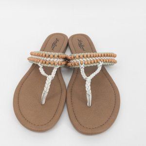 Lucky Brand Dollie Leather Braided Beaded Sandals